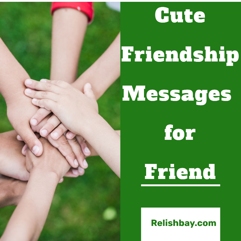 Cute Friendship Messages for Friend