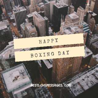 Happy boxing day to you