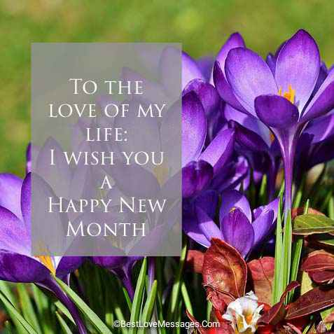 Happy New Month Messages to My Love