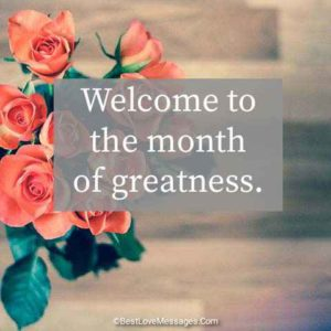 Happy New Month Wishes