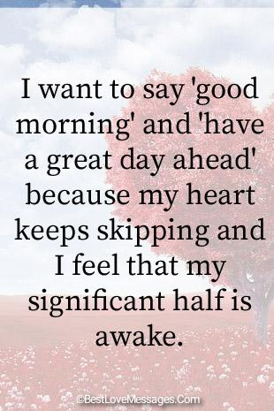 Romantic Good Morning Love Messages Image