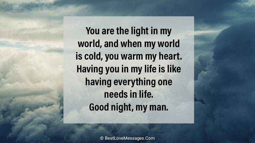 Long Goodnight Messages for Him