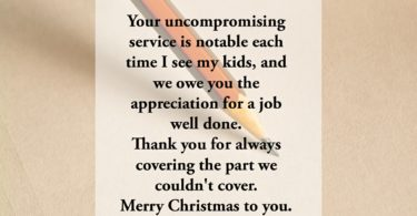 Christmas Wishes for Teachers from Parents