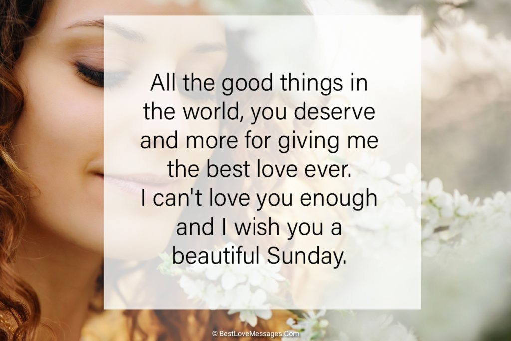 Sweet Sunday Wishes for Her