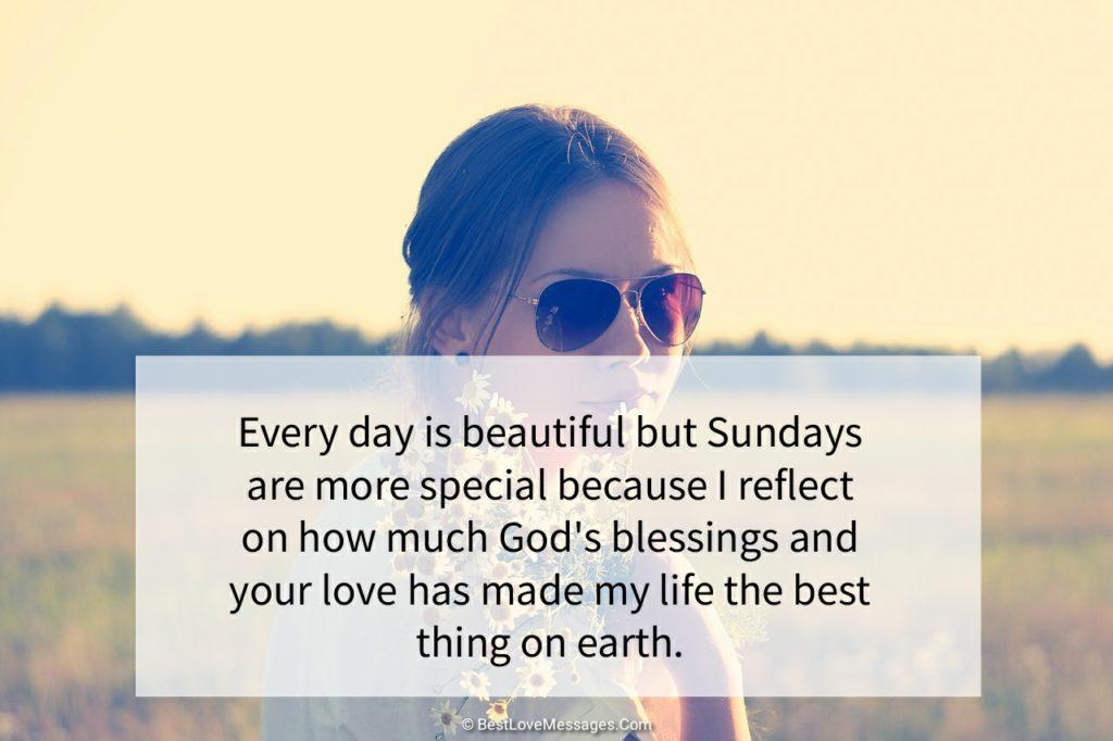 Happy Sunday Wishes to My Love