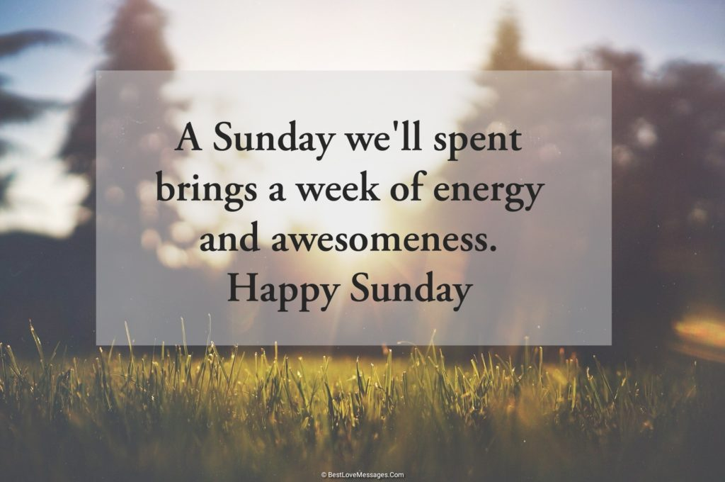 Beautiful Sunday Morning Messages and Quotes