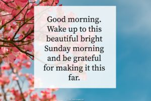 Beautiful Sunday Morning Wishes