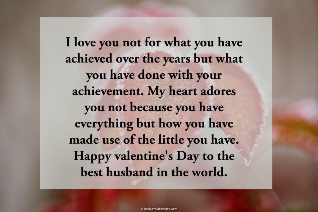 Husband message sample valentine for Sweet Happy