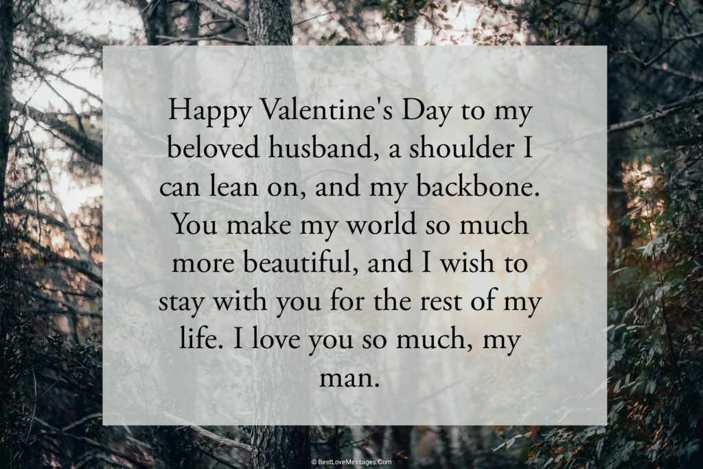 Valentine Messages for Husband Image