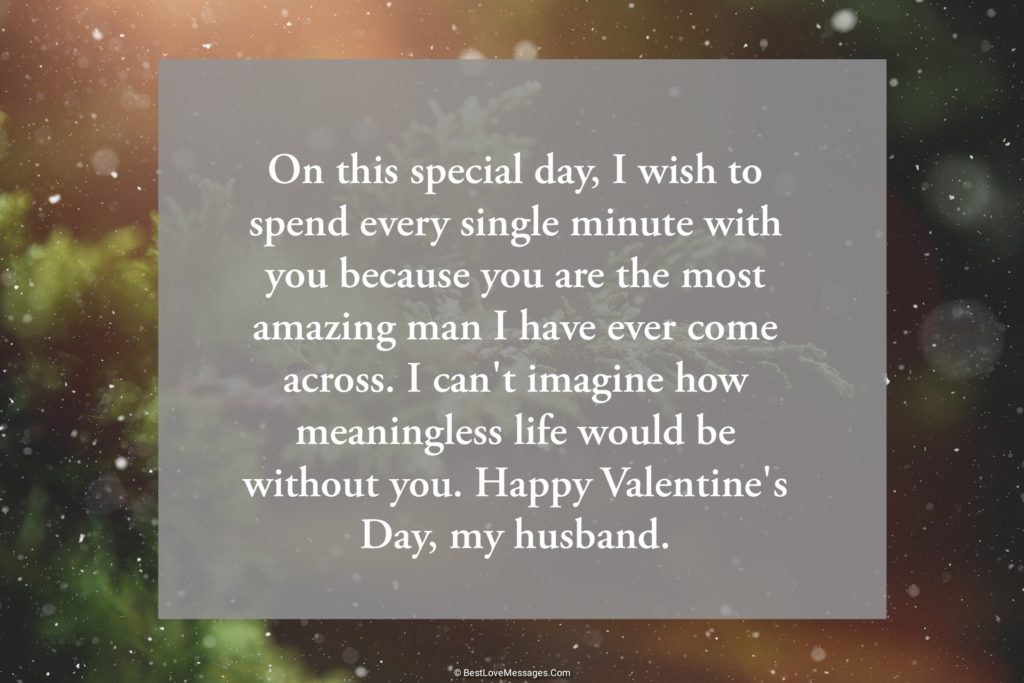 Valentine Wishes for Husband