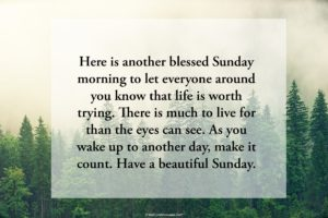 Good Morning Sunday Messages for Family