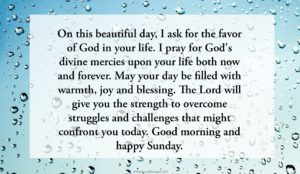 Blessed Sunday Prayer Messages Image