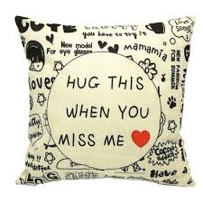 Hug this when you miss me pillow - Valentine's Gifts for a Black Man