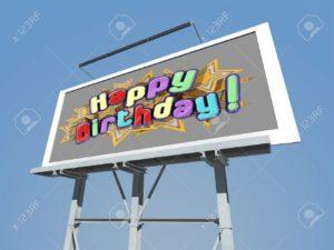 Birthday billboard