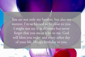 Birthday Wishes to a Brother