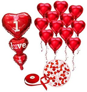 Heart-shaped Red Balloons