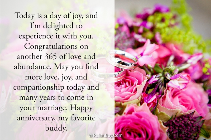 Beautiful Happy Anniversary Messages for a Friend