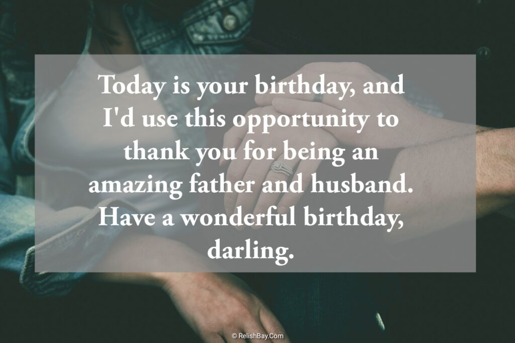 Lovely Birthday Messages to Husband