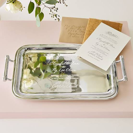 Custom Invitation Tray