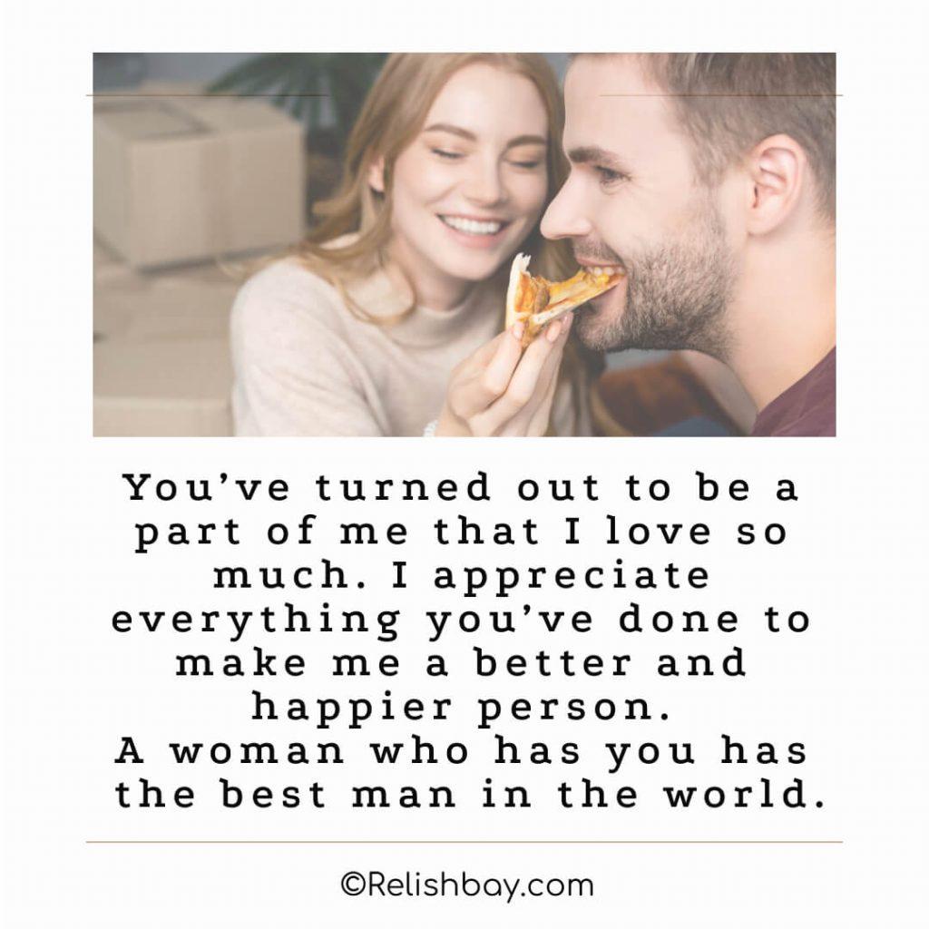Short Appreciation Messages for Him