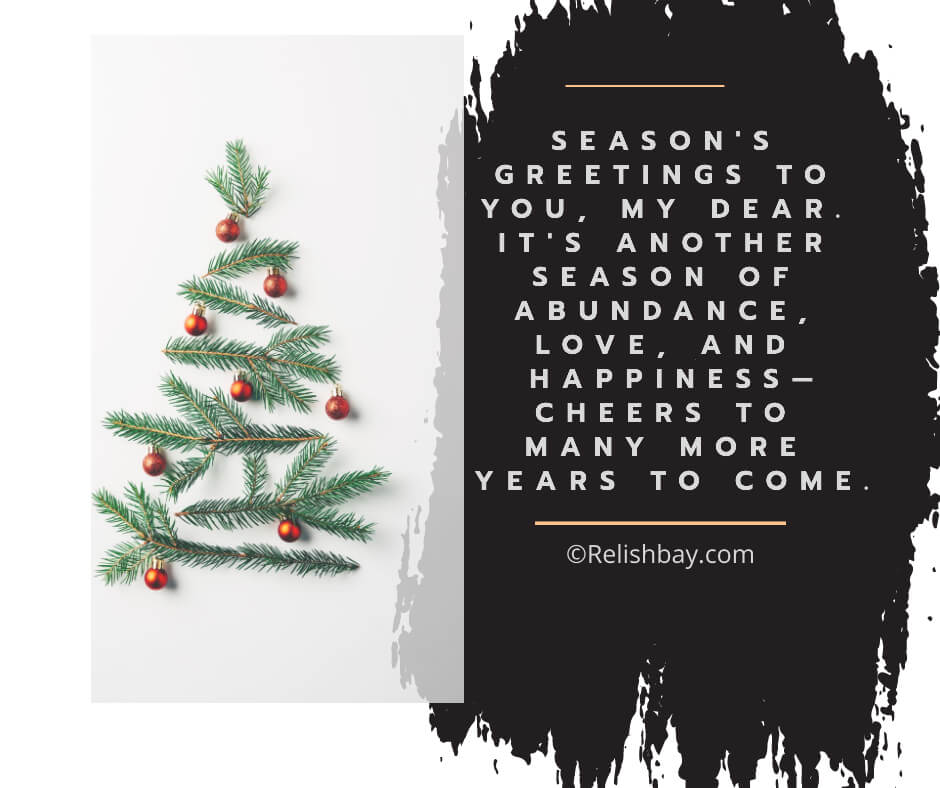 Compliments of the Season Messages