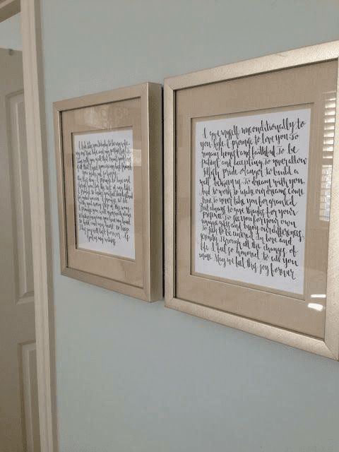 Framed Vows Wedding Gift Ideas for Son