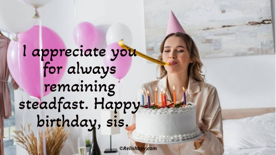 Motivational Birthday Messages For Sister